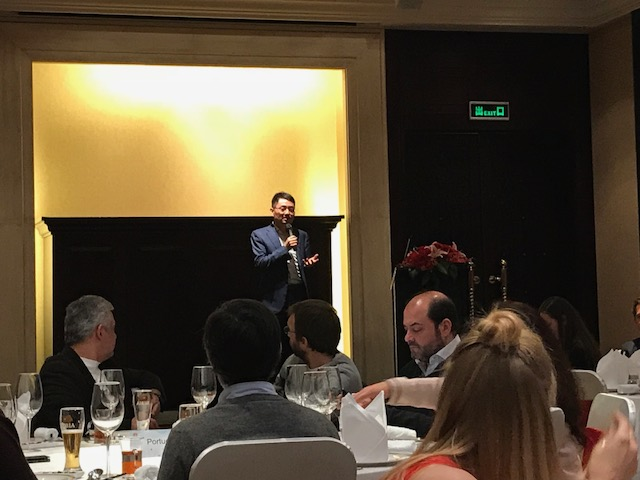 Walter Ji, President of the Consumer Business Group West Europe, welcoming journalists from across the world at the Intercontinental in Shenzhen